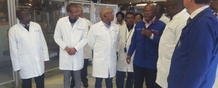 Premier David Makhura, Tshwane Mayor Kgosientso Ramokgopa and his delegation touring the BMW plant in Rosslyn. Picture: Twitter @MayorOfTshwane.