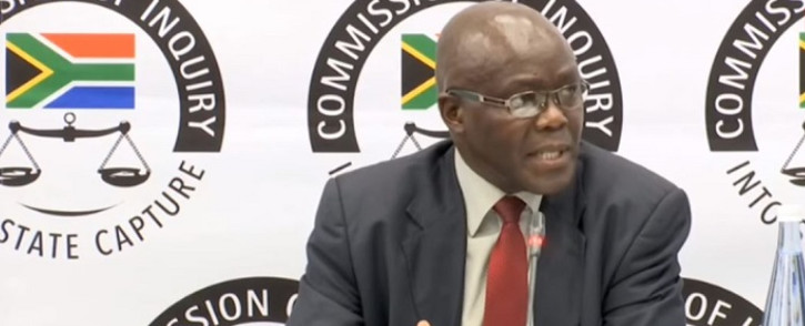 FILE: A screenshot of former head of Free State agriculture Peter Thabethe testifying at the Zondo commission. Picture: SABCDigitalNews/Youtube