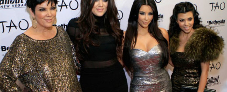 FILE: (L-R) Kris Jenner, Khloe Kardashian, Kim Kardashian and Kourtney Kardashian. Picture: AFP
