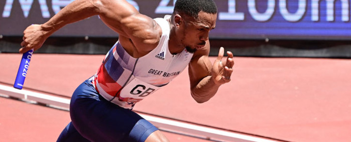 Britain's Chijindu Ujah competes in the men's 4x100m relay heats during the Tokyo 2020 Olympic Games at the Olympic Stadium in Tokyo on 5 August 2021. Picture: Javier Soriano/AFP