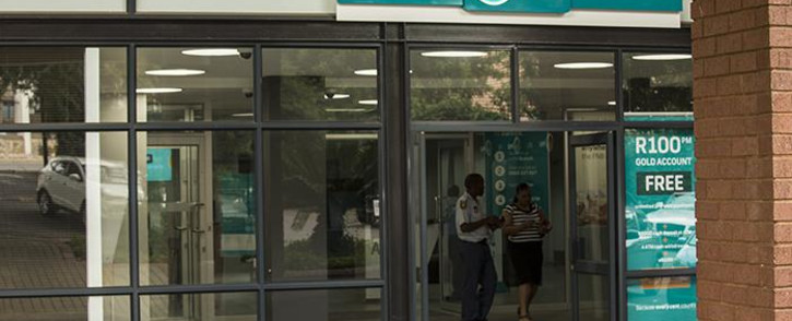 The entrance to the FNB Randburg branch in Johannesburg.. Picture: Reinart Toerien/EWN.