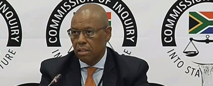 A screengrab shows Eskom treasury official Sincedile Shweni.