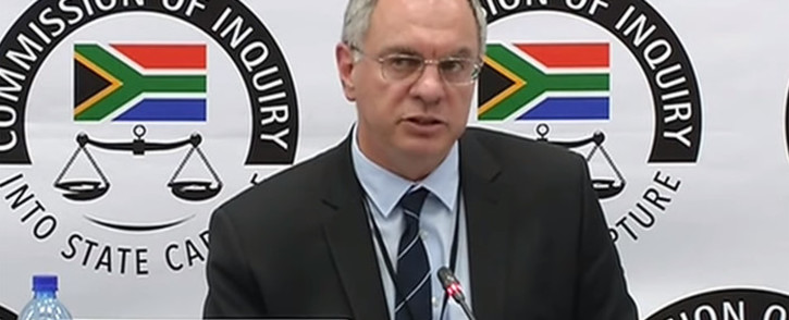 FILE: A screengrab of corporate finance expert Dr Jonathan Bloom appearing at the state capture inquiry on 31 May 2019.