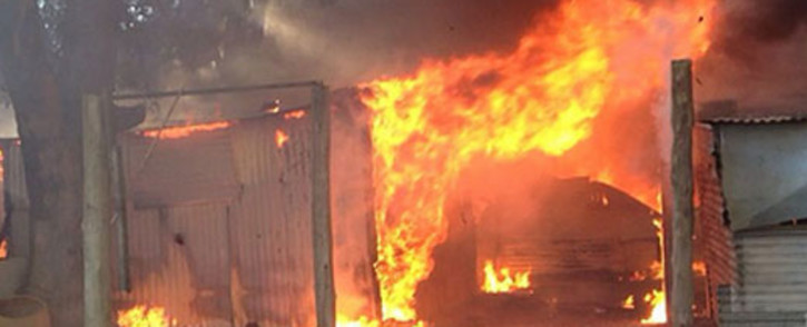 An ex-boyfriend allegedly torched a woman's shack, killing her two children, before attacking her. FILE PICTURE: ER24
