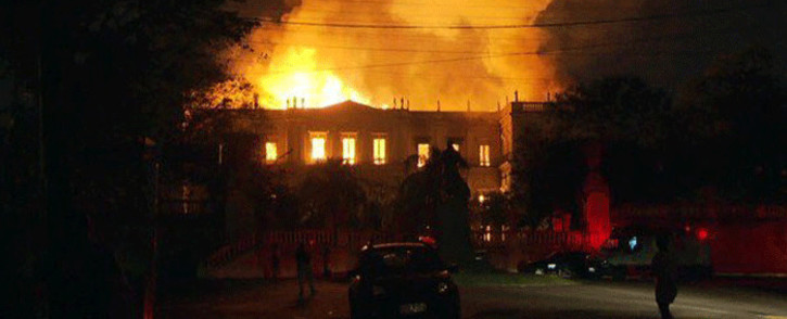A 200-year-old museum in Rio de Janeiro was hit on 2 September by a massive fire, images from television station Globo showed, threatening its collection of more than 20 million items ranging from archaeological findings to historical memorabilia. Screengrab