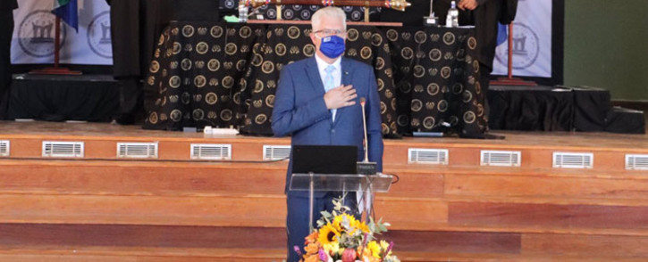 Western Cape Premier Alan Winde delivers his State of the Province Address in Genadendal on 17 February 2021. Picture: @alanwinde/Twitter