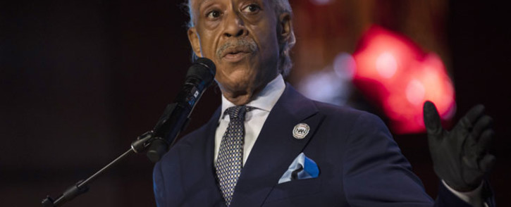 US civil rights activist Al Sharpton performs a eulogy during a memorial service for George Floyd at North Central University on 4 June 2020 in Minneapolis, Minnesota. Picture: AFP