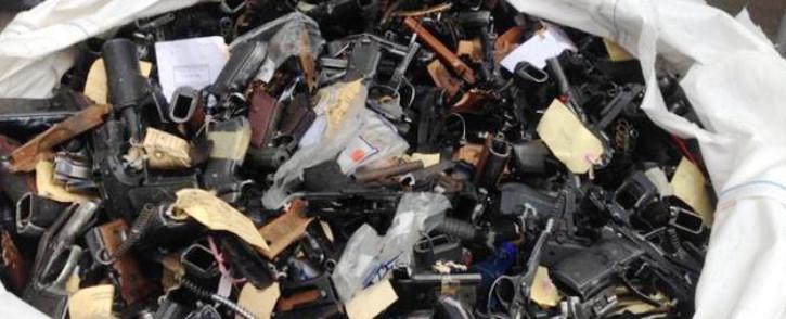 FILE: Illegal firearms. Picture: EWN