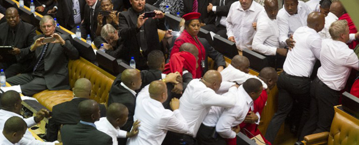 Visuals of the physical removal of EFF MPs from Parliament during Sona last month were not broadcast live because cameras at the time were fixed on the presiding officers.