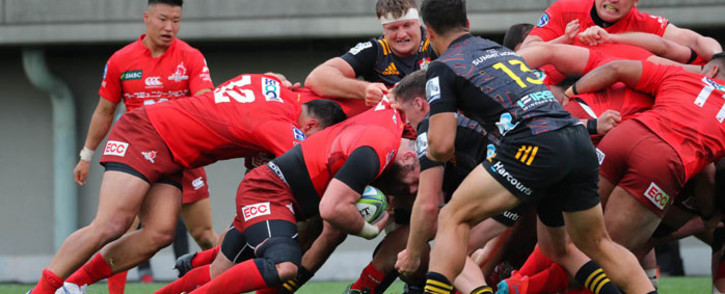 The Sunwolves in action against the Chiefs during their Super Rugby match on 15 February 2020. Picture: @sunwolves/Twitter