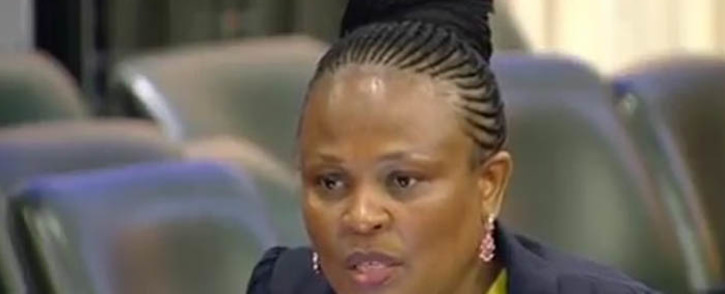 A screengrab of Public Protector Busisiwe Mkhwebane during an appearance in Parliament. Picture: YouTube