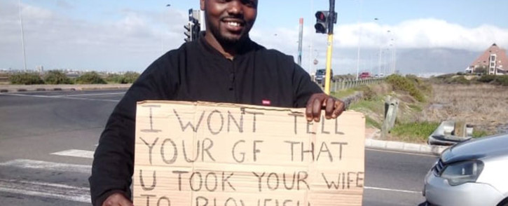 After losing his job due to COVID-19, Lusindiso Malgas said relying on his sense of humour always got him through tough times. Picture: Supplied.