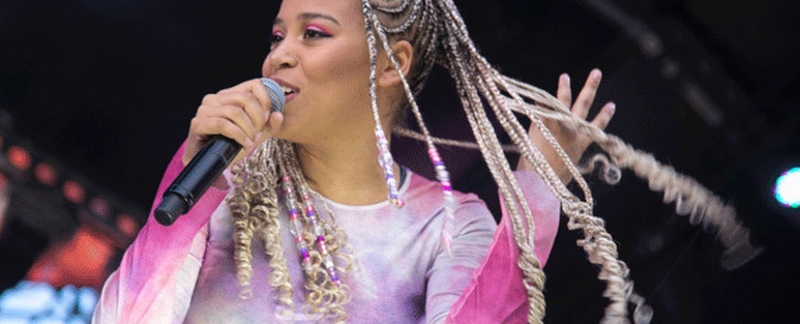 Musician Sho Madjozi performs at Vivionation lifestyle festival in Johannesburg. Picture: Kayleen Morgan/EWN.