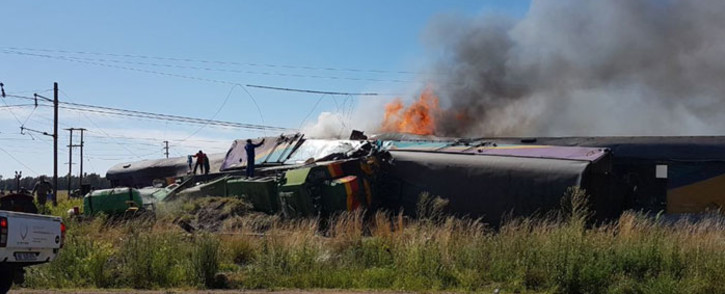 Train accident in the Free State in Kroonstad where several people have died. Picture: Supplied.