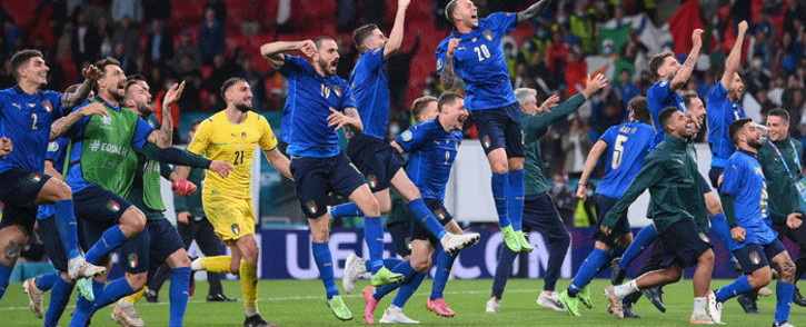 Italy beat Spain 4-2 on penalties after a 1-1 draw in Euro 2020 semi-final at Wembley on 6 July 2021. Picture: @EURO2020/Twitter.