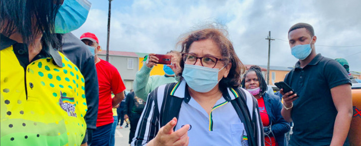 ANC deputy secretary general Jessie Duarte engaging at Phoenix Plaza as part of the ANC's municipal election campaign on 7 October 2021. Picture: @MYANC/Twitter.