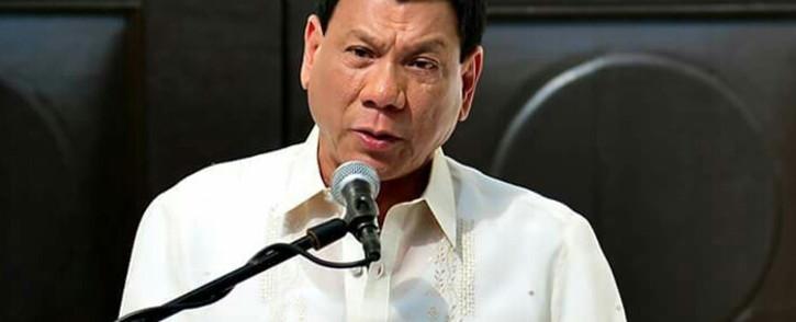 FILE: Philippines President Rodrigo Duterte. Picture: Facebook