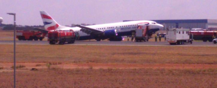 British Airways Comair plane. Picture: Lina Lekgothwane.