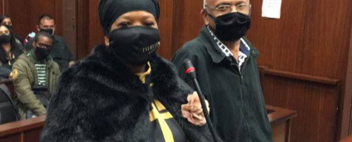 Former KwaZulu-Natal police commissioner Mmamonnye Ngobeni and co-accused Ashwin Narainpersad appeared in court on 5 October 2020 on fraud and corruption charges linked to a R47 million police tender during the 2010 Fifa Soccer World Cup. Picture: Nkosikhona Duma/EWN