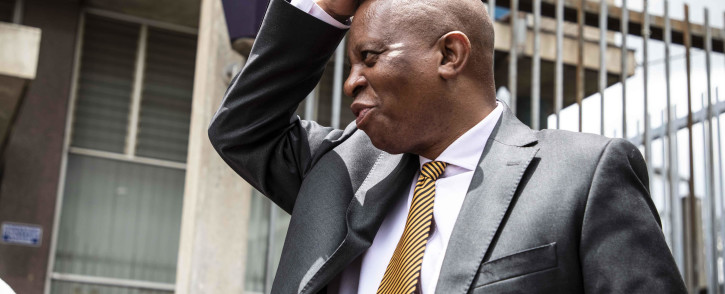 Johannesburg Mayor Herman Mashaba laid charges of fraud, corruption, money laundering and racketeering against former MMC of Finance Geoff Makhubo and former mayor Parks Tau, at Johannesburg Central police station. Picture: Abigail Javier/EWN
