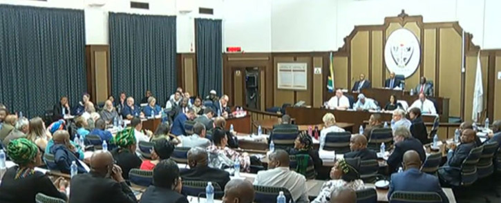 FIEL: A screengrab of a Nelson Mandela Bay council meeting.