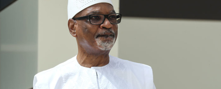 In this file photo taken on 30 June 2020 former Mali President Ibrahim Boubacar Keita poses for a photo during the G5 Sahel summit in Nouakchott. Picture: AFP