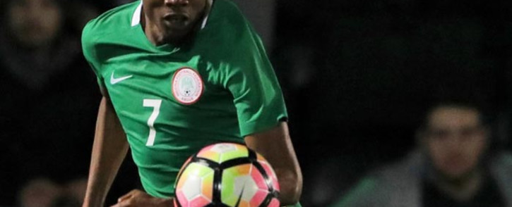 Ahmed Musa took his goal tally to 13 for the Super Eagles after scoring twice against Togo in a friendly international on 1 June. Picture: Twitter/@LCFC.