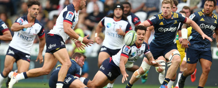 FILE: The Melbourne Rebels in action against the Highlanders during their Super Rugby match in Dunedin on 28 February 2020. Picture: @MelbourneRebels/Twitter