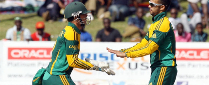 FILE: Proteas Quinton de Kock and JP Duminy Quinton during the Test Series against New Zealand on 21 October 2014. Picture: Facebook.
