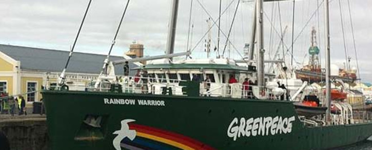 The Rainbow Warrior is docked at Cape Town Harbour, 12 August 2012. Picture: Graeme Raubenheimer/EWN.
