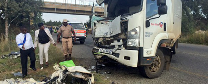 FILE: The fatal crash on the R41 in Randfontein. Picture: Emily Corke/EWN.