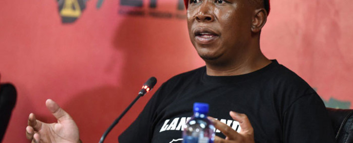 EFF leader Julius Malema briefs the media during a virtual press briefing in Braamfontein on 26 October 2020. Picture: @EFFSouthAfrica/Twitter