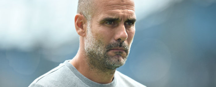 Manchester City manager Pep Guardiola is seen ahead of the English Premier League football match between Manchester City and Southampton at the Etihad Stadium in Manchester, north west England, on 18 September 2021. Picture: Oli Scarff/AFP