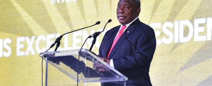 President Cyril Ramaphosa speaks at the Africa Investment Forum on 8 November 2018. Picture: @AIFMarketPlace/Twitter