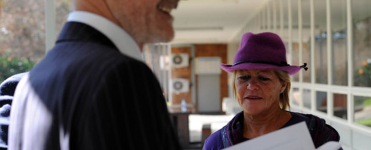 Suspended NPA prosecutor Glynnis Breytenbach ahead of her disciplinary hearing on 25 July 2012. Picture: Werner Beukes/SAPA.