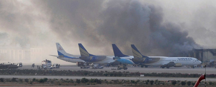 FThe attack comes a day after an attack on the Karachi airport (pictured) in which 26 people were killed. Picture: AFP.