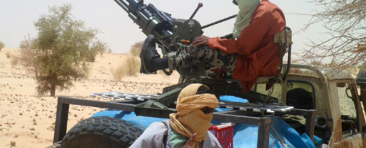 A picture taken on April 24, 2012 shows Islamists rebels of Ansar Dine near Timbuktu, in rebel-held northern Mali. Picture: AFP