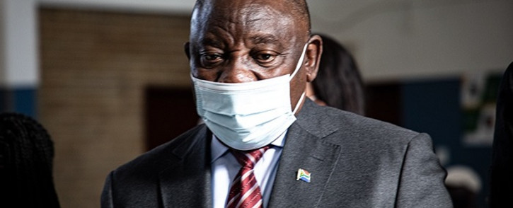 President Cyril Ramaphosa in Tembisa on Thursday, 29 Julu 2021. Picture: Xanderleigh Dookey-Makhaza/Eyewitness News.