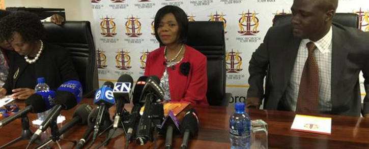 FILE: Public Protector Thuli Madonsela delivering the speech she hoped to make in Parliament during the sitting of the ad hoc committee on Nkandla on 3 August 2015. Picture: Alex eliseev/EWN.