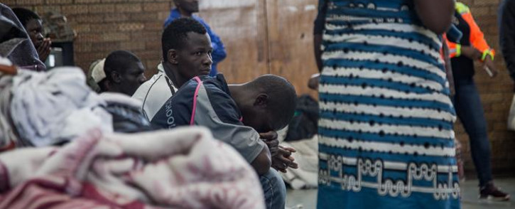 Displaced foreign nationals at the DK Williams Community Centre in Katlehong. Picture: Kayleen Morgan/EWN