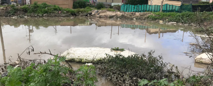 A flooded area in the Endolovini informal settlement in Khayelitsha. Picture: Kaylynn Palm/EWN
