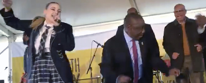 ScreenGrab : President Cyril Ramaphosa delivered the keynote address at this year's Youth Day celebrations at the Peter Mokaba Cricket Club in Polokwane, Limpopo.