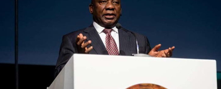 President Cyril Ramaphosa addresses the 2018 Discovery Leadership Summit in Sandton, Johannesburg, on 1 November 2018. Picture: @Discovery_SA /Twitter