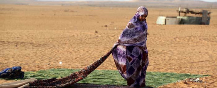 A Sahrawi refugee at the Sahrawi refugee camp of Dakhla, 170 km to the southeast of the Algerian city of Tindouf, in the disputed territory of Western Sahara, in July 2016. Picture: AFP.