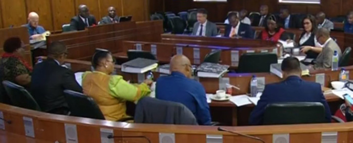 FILE: A screengrab of MPs presiding over a parliamentary inquiry into the naturalisation of members of the Gupta family.