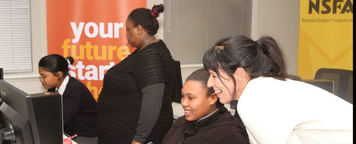 FILE: Learners testing the NSFAS online application system. Picture: Supplied