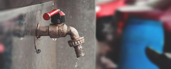 Water tap outside