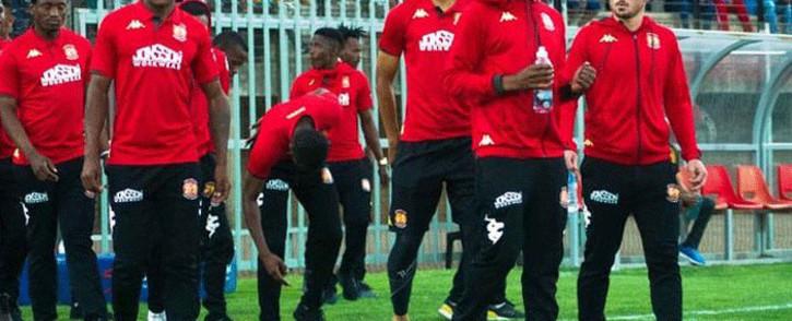 Highlands Park FC players. Picture: @HighlandsP_FC/Twitter.