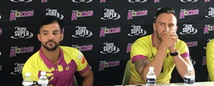 JP Duminy and Faf du Plessis. Picture: Ayanda Felem/EWN Sport.