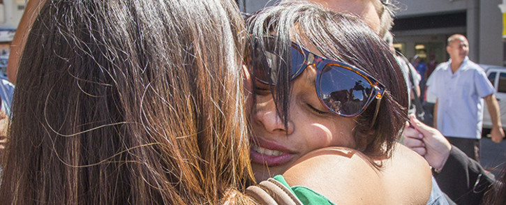 FILE: Celeste Nurse embraces friends and family after the woman who kidnapped her biological daughter Zephany was found guilty on 10 March 2016. Picture: Aletta Harrison/EWN.